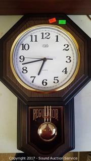 Tozaj Wood Battery Powered Regulator Wall Clock