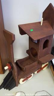 Unique Wooden Train Bird House
