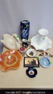 Lot of Collectible Figurines, Dishes, Vases & More