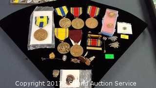 WWII, Navy Medals, Pins, & Cufflinks