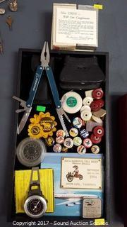 Tray of Vtg. Trinkets & Collectibles