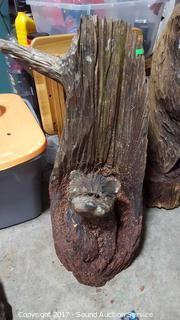 Chainsaw Carved Wooden Bear Yard Art