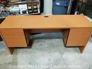 4 Drawer Nice Modern Wood Office Desk