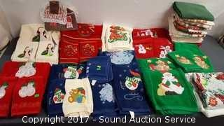 Huge Collection of Christmas Towels & Washcloths