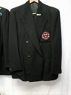 Vtg. Herbert Gallaher Suit W/ a Harvard Patch