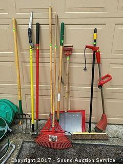 10 Piece Yard Tool Lot
