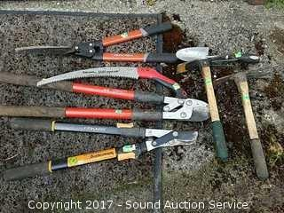 7 Piece Garden Tools, Loppers & Hand Saw