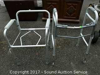 Folding Adjustable Aluminum Walker & Chair