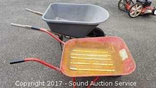 Vintage Metal & Plastic Wheelbarrow