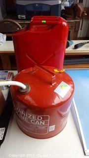 Pair of Metal Gas Cans
