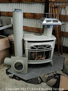 Majestic Propane Enameled Cast Iron Fireplace