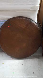 """Large Hand Hammered Engraved Copper 28"""" Charger"""