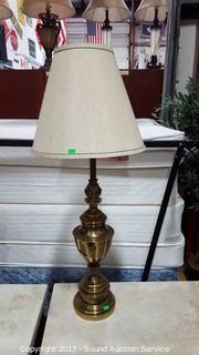 "Beautiful 37"" Stiffel Company Solid Brass Lamp"