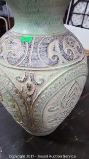 """Hand Crafted Terra-cotta Pottery Vase 16"""""""