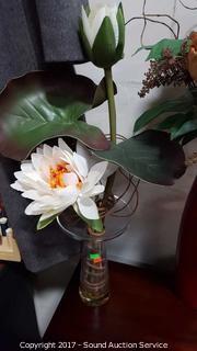 (4) Interior Accent Silk Floral Decor
