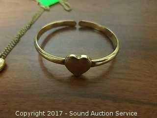 1/20th 12K GF Heart Locket, Baby Bracelet & More
