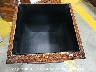 Interior Accent Square Tin Planter