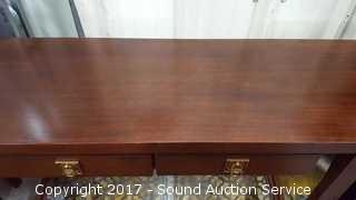 Elegant Bernhardt Console Table W/ Brass Hardware