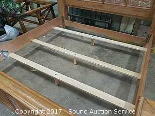 Whitewash Oak Drexel Bel-Aire King Size Bed Frame