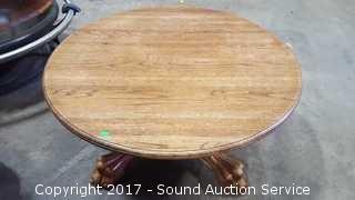Oak Claw Foot Table