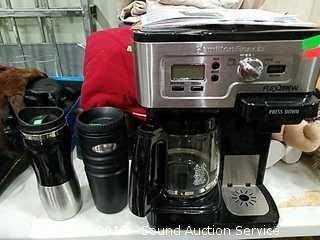 Hamilton Beach Flexbrew with Travel Coffee Cups