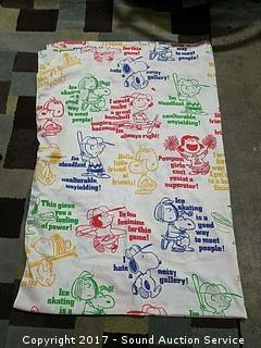 Vtg. Peanuts Twin Size Sheet