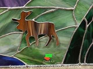 Artist Signed Stained Glass Window Decor