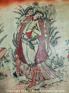 Leather Love Scene Tapestry