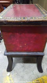 Vintage Painted Wood Chest