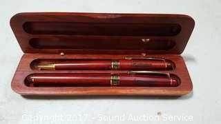 Lee International Wooden Pen Set