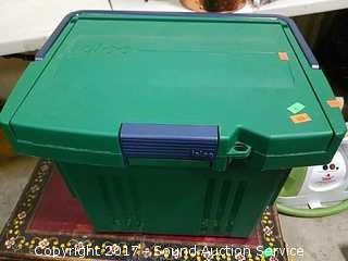 Portable File Box Loaded W/ Office Supplies