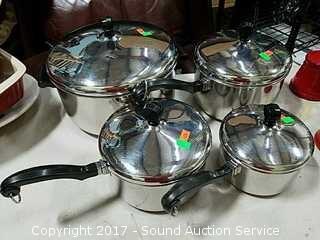 (4) Farberware Stainless Steel Pots