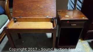 Single Drawer Night Stand & Small Table