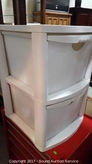 2 Drawer Plastic Storage Container