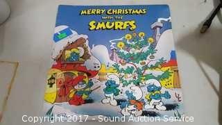 1983 Merry X-Mas w/Smurfs Record Album