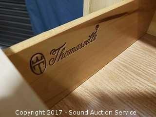Thomasville Oak 7 Drawer Lingerie Chest W/ Clock