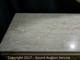 Thomasville Whitewash Oak Marble Top Dresser