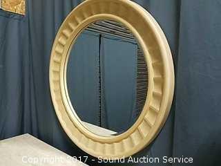 "Beautiful 43"" Contemporary Whitewash Mirror"