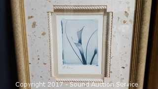 2 Contemporary Framed Lilly Prints by Mellios
