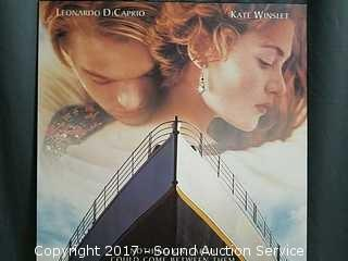 Titanic Movie Poster Printed on Board
