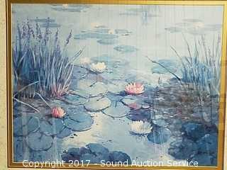 Framed & Matted Lily Pond Print