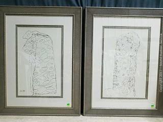 """Gustav Klimt Framed & Matted Prints """"Embracing"""""""