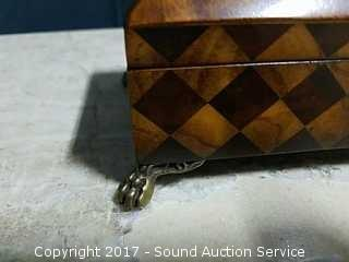 Hand Crafted Kreiss Trinket Box W/ Brass Claw Feet