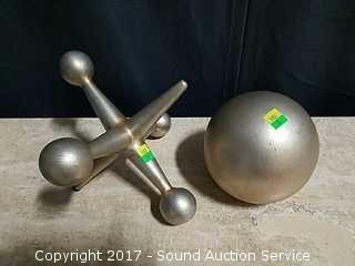 Porcelain Jack & Ball Sculptures