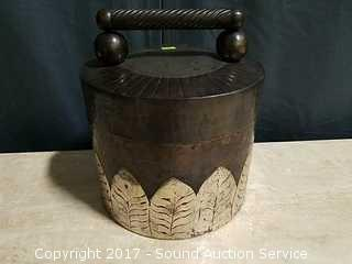 Handcrafted Patina Brass Covered Vessel
