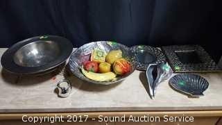 Beautiful Lot of Pewter & Metal Interior Accent