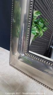 Contemporary Brushed Steel Accent Mirror