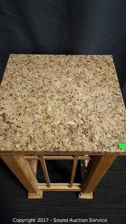 Thomasville American Revival Marble Top Table
