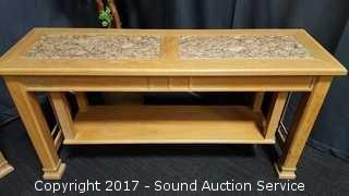 Thomasville American Revival Marble Top Console