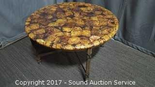 Stunning Coconut Shell & Wrought Iron Kreiss Table